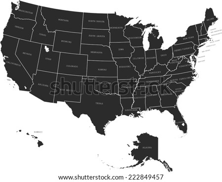 United States Map Vector   Download Free Vector Art, Stock