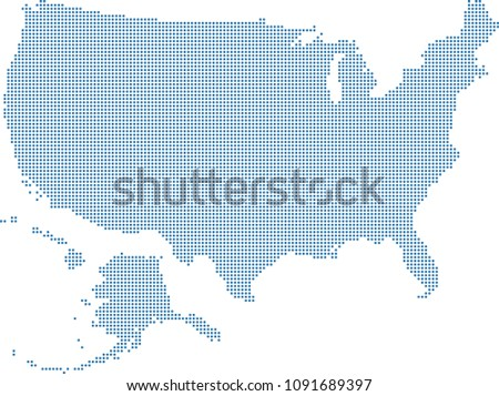 US Dotted Map Vector - Download Free Vector Art, Stock Graphics & Images