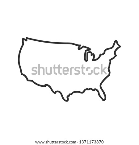 USA map icon. isolated on white background. Vector illustration.