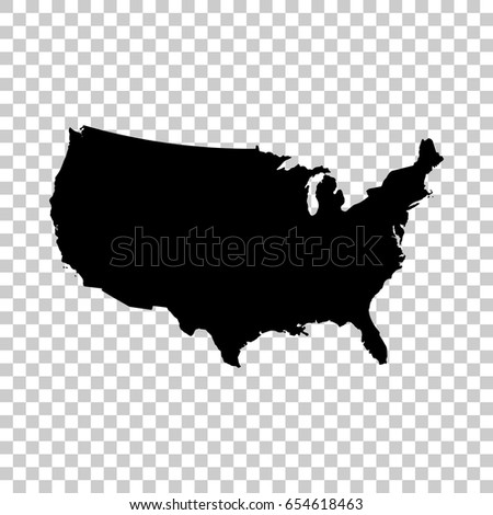 usa map isolated on transparent ...