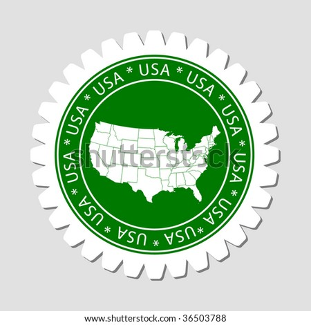 USA Map Label