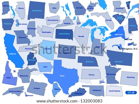 State Outline USA Download Free Vector Art Stock Graphics Images - Us Map With States Outlined Vector