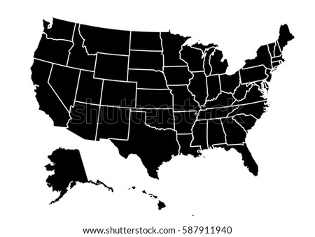 Vector Us Map Globalinterco - Us map vector