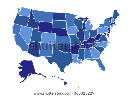 usa map vector illustration art