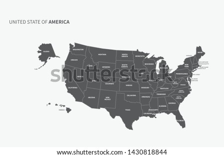 usa map. vector of america map.