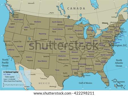 North America Map Vector Download Free Vector Art Stock - Us map vector