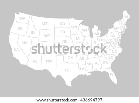 Free US Map Silhouette Vector - A picture of the united states of america map