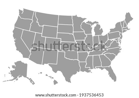 USA map with states isolated on a white background.Vector EPS10 Stockfoto ©