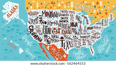 United States Map Vector Download Free Vector Art Stock - Hand drawn us map vector