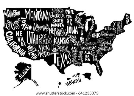 United States Landmark Map Vector - Download Free Vector Art, Stock ...