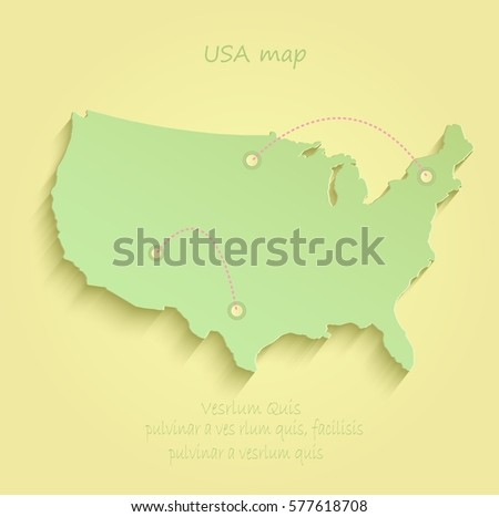 Blank Outline Map Of USA Download Free Vector Art Stock - Photo of usa map