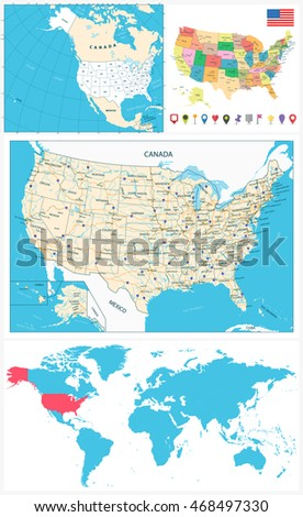 usa maps collection large