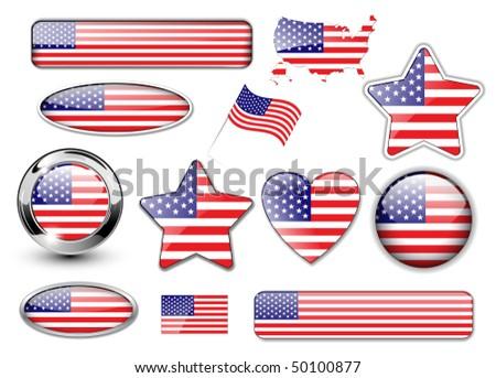 60d0a59b3525 shiny american flag design - Download Free Vector Art