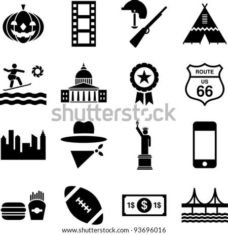 USA pictograms