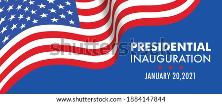 USA Presidential Inauguration Day on January 20th 2021 vector banner.