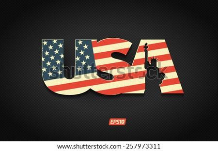 USA retro vector symbol