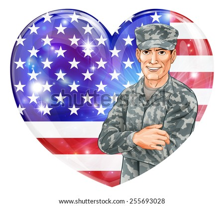 usa soldier illustration of a