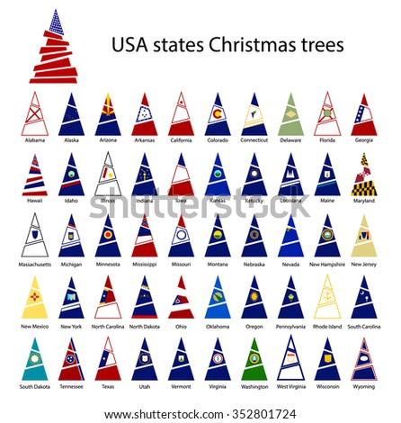 usa states christmas trees