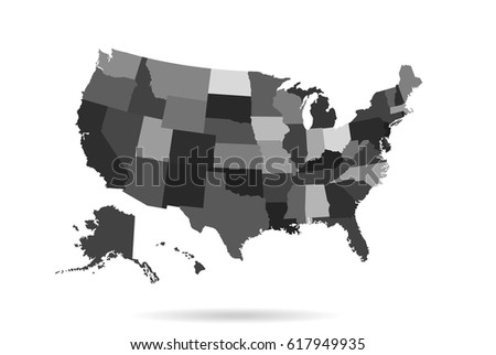blank outline map of usa download free vector art stock blank us map and states with blank map of usa