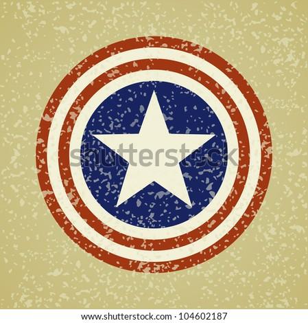 USA symbolic on grunge background vector
