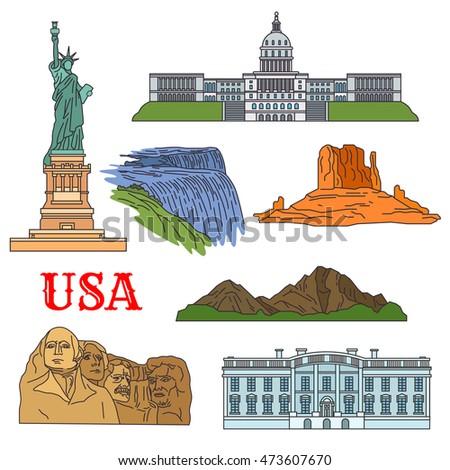 usa travel landmarks of culture