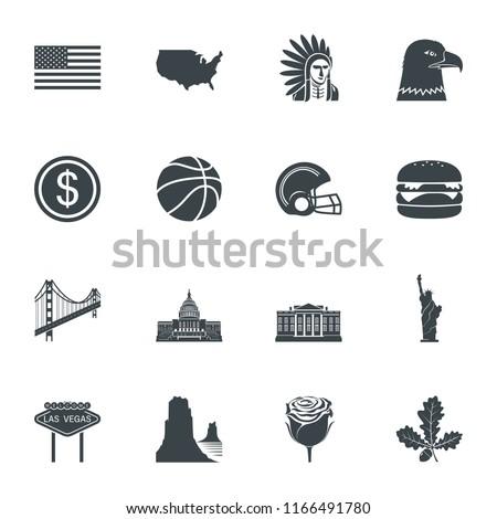 USA, united states icons. vector illustration