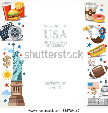 usa vertical background