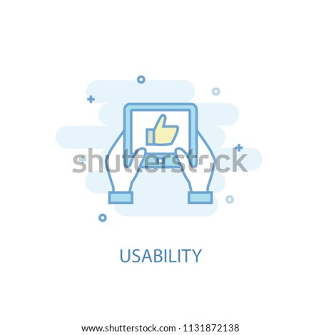 usability line trendy icon. Simple line, colored illustration. usability symbol flat design from Online business set. Can be used for UI/UX