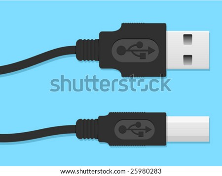 USB cable connector - vector