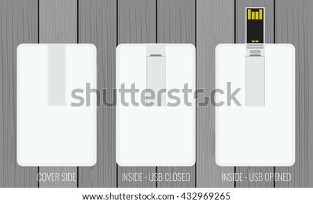 usb flash card empty template