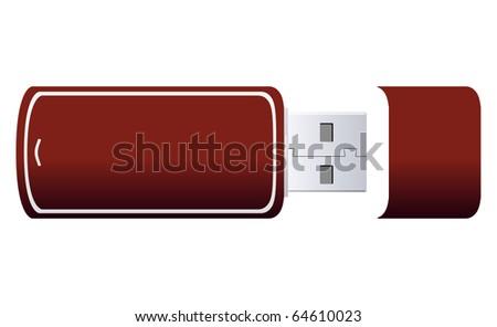 USB Flash Drive Vector - stock vector