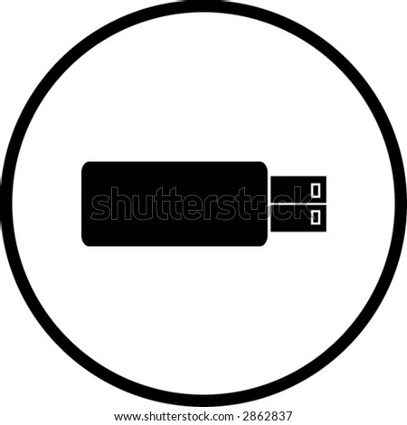 usb flash storage device symbol