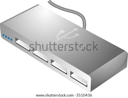 USB hub connecting and sharing multiple usb devices to a computer