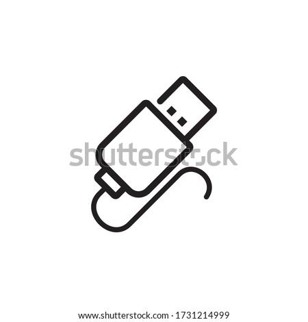 Usb icon, data portable icon vector Stock photo ©