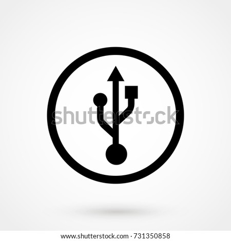 usb icon isolated on background. Modern flat pictogram, business, marketing, internet concept. Trendy Simple vector symbol for web site design or button to mobile app. Logo illustration
