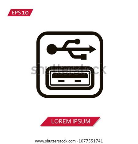 USB port vector icon Stock photo ©