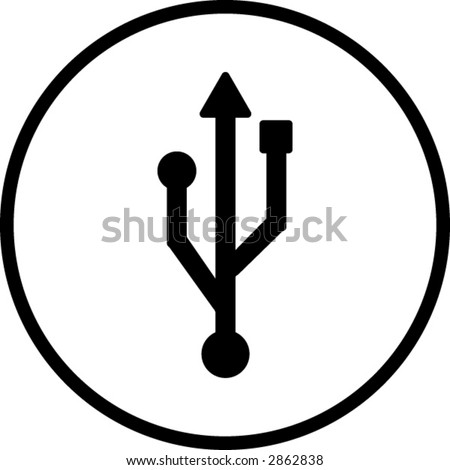 usb symbol - stock vector