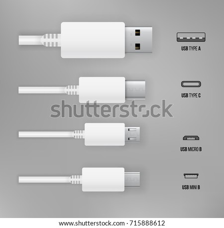 usb type a  b and usb type c...