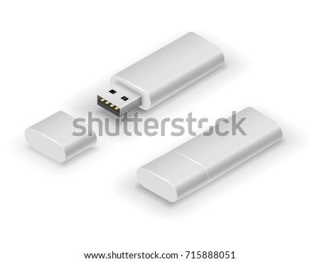 usb white big flash pen drive