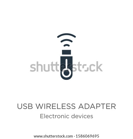 Usb wireless adapter icon vector. Trendy flat usb wireless adapter icon from electronic devices collection isolated on white background. Vector illustration can be used for web and mobile graphic