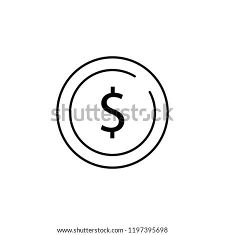 usd, dollar icon. Element of business start up icon for mobile concept and web apps. Thin line usd, dollar icon can be used for web and mobile