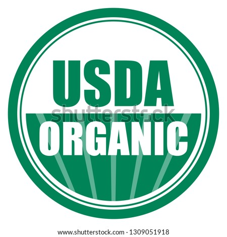 Usda organic vector icon on white background