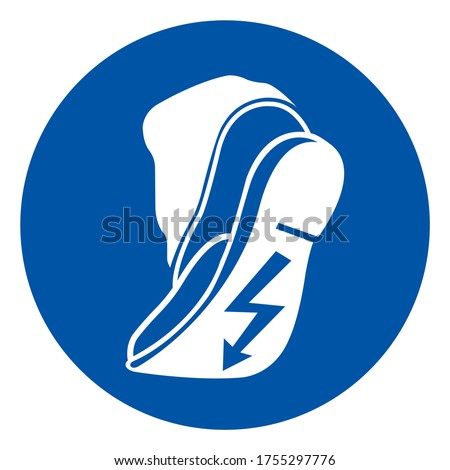Use Anti Static Footwear Symbol Sign ,Vector Illustration, Isolate On White Background Label. EPS10 Foto stock ©