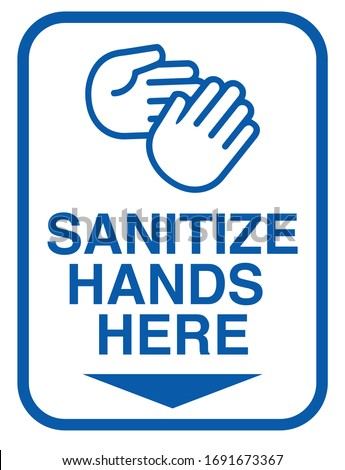 use hand sanitiser clean hands