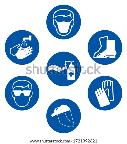 Use PPE Required Prevent Spread Of Virus Covid-19 Symbol Sign ,Vector Illustration, Isolate On White Background Label. EPS10