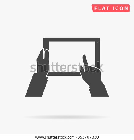 use tablet icon vector