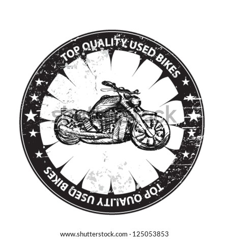 used bikes grunge seal - stock vector