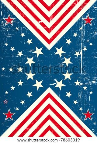 used poster of USA. An american poster with a texture