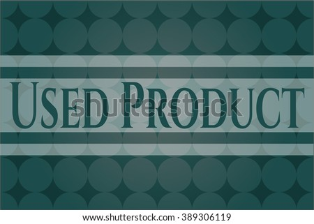 Used Product card, poster or banner