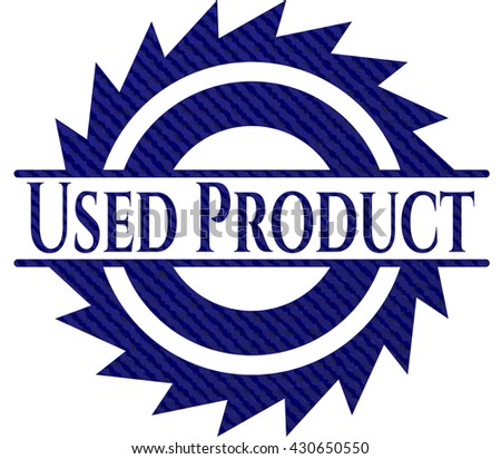 Used Product emblem with jean high quality background
